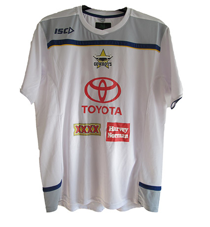 North Queensland Cowboys White Training T-Shirt 2012