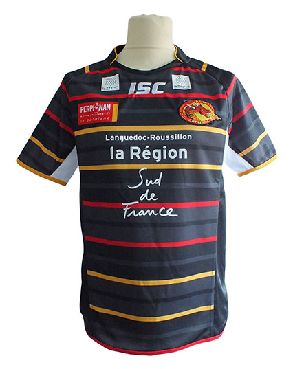 Catalan Dragons Adult Replica Away Jersey