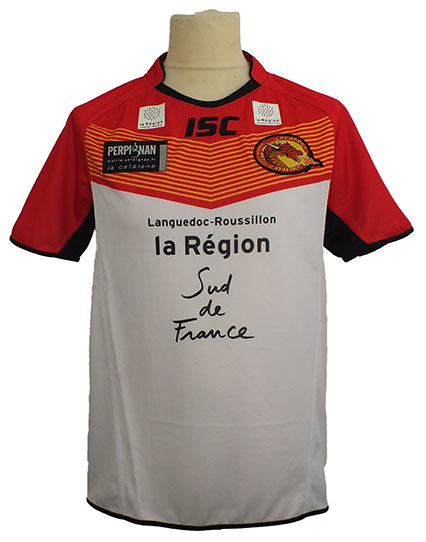 Catalans Dragons Kids Replica Home Jersey