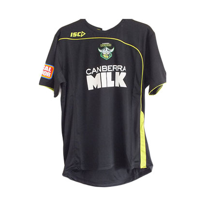 Canberra Raiders Adult Black Training T-Shirt 2012