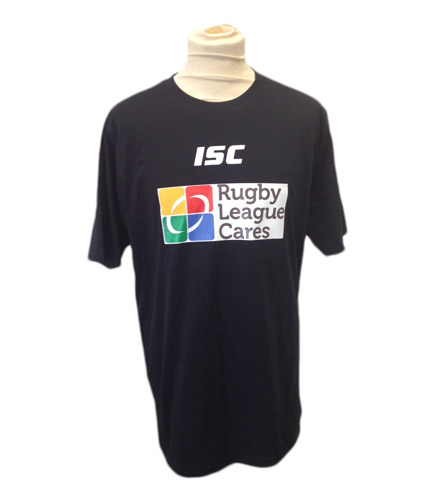 Rugby League Cares Black T-Shirt