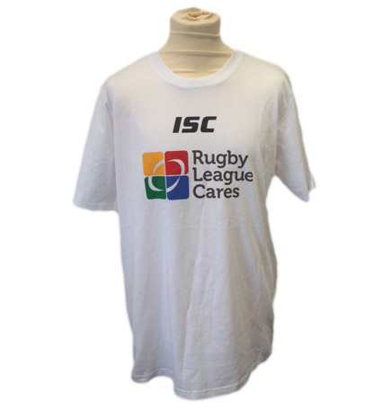 Rugby League Cares White T-Shirt
