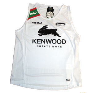 South Sydney Rabbitohs 2013 White Training Singlet